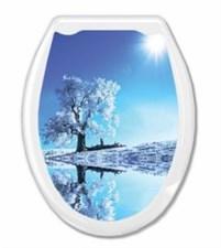 Сиденье для унитаза  Универсал Декор  Белое дерево Европласт