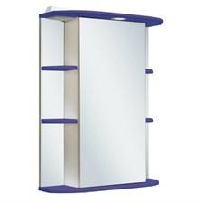 Шкаф зеркальный навесной  Гиро 55  /правый/ синий