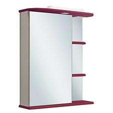 Шкаф зеркальный навесной  Магнолия 60  /левый/ красный