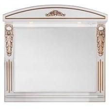 Зеркало Кармен Белое (патина: золото) 105 см